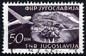 Postage stamp Yugoslavia 1951 Plane over Bled — Stock Photo