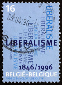 Postage stamp Belgium 1996 Liberal Party — Stock Photo