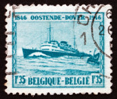 Postage stamp Belgium 1946 M. S. Prince Baudouin, Passenger Ship — Stock Photo