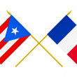 Flags, France and Puerto Rico — Stock Photo #52361699
