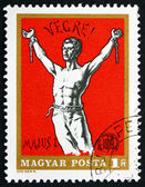 Postage stamp Hungary 1969 Man Breaking Chains, Revolutionary Po — Stock Photo