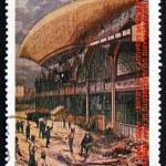 Постер, плакат: Postage stamp Sao Tome and Principe 1988 Airship Le Jeune