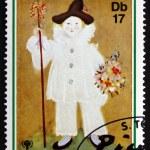 Postage stamp Sao Tome and Principe 1981 Painting by Pablo Picas — Stock Photo #52563227