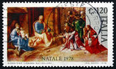 Postage stamp Italy 1978 Adoration of the Kings, by Giorgione — Stock Photo