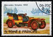 Postage stamp Sao Tome and Principe 1983 Mercedes Simplex, 1902, — Stock Photo