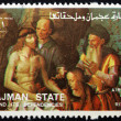 Postage stamp Ajman 1973 Descent from the Cross — Stock Photo #52620197
