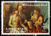 Postage stamp Ajman 1973 Descent from the Cross — Stock Photo
