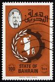 Postage stamp Bahrain 1977 Map of Bahrain — Stock Photo