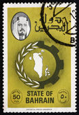 Postage stamp Bahrain 1979 Map of Bahrain — Stock Photo