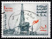 Postage stamp Saudi Arabia 1976 Al Khafji Oil Rig — Stock Photo