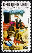 Postage stamp Djibouti 1985 Hygiene, Family Health Care — Stock Photo