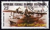 Postage stamp Comoros 1985 F-AOUL Seaplane — Stock Photo