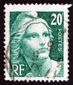 Postage stamp France 1946 Marianne, the Allegory — Stock Photo