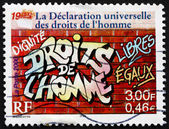 Postage stamp France 2000 Declaration of Human Rights — Stock Photo