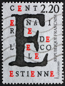 Postage stamp France 1989 Estienne School, Centenary — Stock Photo