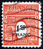 Postage stamp France 1944 Arc de Triomphe, Paris — Stock Photo