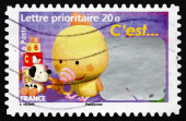 Postage stamp France 2008 It's a Girl, Announcement — Stock Photo