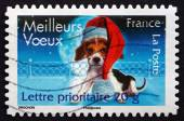 Postage stamp France 2007 Best Wishes, Christmas — Stock Photo