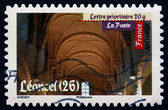 Postage stamp France 2010 Leoncel Abbey, Antic Art — Stock Photo