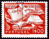Postage stamp Portugal 1954 Open Textbook — Stock Photo