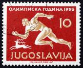 Postage stamp Yugoslavia 1956 Runner — Stock Photo