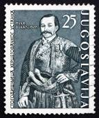 Postage stamp Yugoslavia 1961 Luka Vukalovic, Uprising Leader — Stock Photo