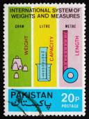 Postage stamp Pakistan 1974 Metric Measures — Stock Photo