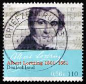 Postage stamp Germany 2001 Albert Lortzing, Opera Composer — Zdjęcie stockowe