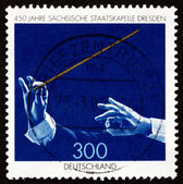 Postage stamp Germany 1998 Saxony State Orchestra — Stock Photo