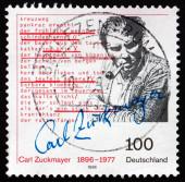 Postage stamp Germany 1996 Carl Zuckmayer, Writer — Stock Photo