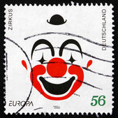 Postage stamp Germany 2002 Clown Face, Circus — Stock Photo