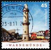 Postage stamp Germany 2008 Warnemunde, Lighthouse — ストック写真