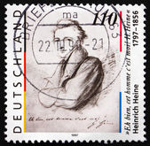 Postage stamp Germany 1997 Heinrich Heine, poet — Stock Photo