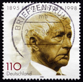 Postage stamp Germany 1998 Ernst Junger, German Writer — Stock Photo