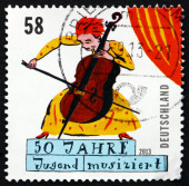 Postage stamp Germany 2013 Young Musician — Stock Photo