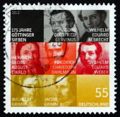 Postage stamp Germany 2012 The Gottingen Seven — Foto de Stock