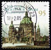 Postage stamp Germany 2005 Berlin Cathedral — Stock Photo
