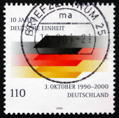 Postage stamp Germany 2000 German Flag — Stock Photo