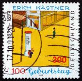 Postage stamp Germany 1999 Erich Kastner, Writer — Stock Photo