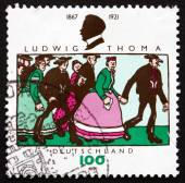 Postage stamp Germany 1996 Ludwig Thoma, German Author — ストック写真