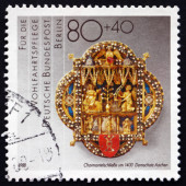Postage stamp Germany 1988 Cope Clasp — Stock Photo