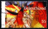 Postage stamp Germany 2009 German Flag — Stockfoto