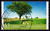 Postage stamp Germany 2012 Spring Break, Holiday — Stok fotoğraf