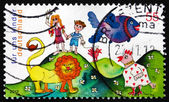 Postage stamp Germany 2012 Colourful Children's World — Foto Stock