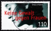 Postage stamp Germany 2000 Prevention of Violence against Women — Stock Photo