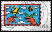 Postage stamp Germany 2008 Thank You, Greetings — Stockfoto
