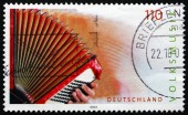 Postage stamp Germany 2001 Accordion, Musical Instrument — Stock Photo