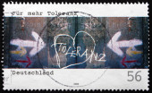 Postage stamp Germany 2002 More Tolerance — Stock Photo