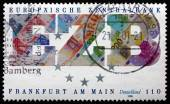 Postage stamp Germany 1998 European Central Bank — Stock Photo
