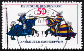Postage stamp Germany 1975 Jousting — Stock Photo